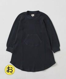 【coen KIDS/JUNIOR】袋鼠口袋 華夫格洋裝