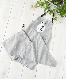 【網路限定】coem熊圍裙組(束口袋/三角巾)