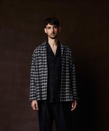 <Steven Alan> 21/- CHECK OPEN COLLAR SHIRT-DROP/襯衫