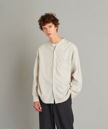 <Steven Alan> BTR NEL BAND COLLAR SHIRT-LOOSE/立領襯衫