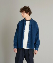 <Steven Alan> 12oz DENIM SINGLE NEEDLE SHIRT-LOOSE/襯衫