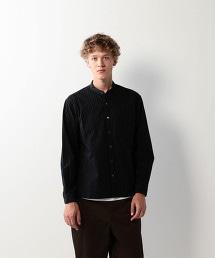 <Steven Alan>COTTON STRIPE BAND COLLAR CLERIC SHIRT-BOLD/襯衫
