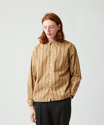 <Steven Alan> G/DYE MULTI/STRIPE SINGLE NEEDLE SHIRT-BOLD/襯衫