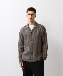 <Steven Alan>MONTI BOX CAMP COLLAR SHIRT-BOLD/襯衫