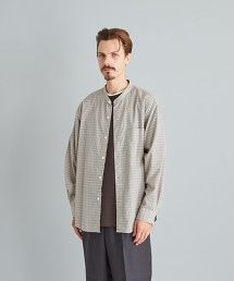 <Steven Alan> C/SI CHECK BAND COLLAR SHIRT-LOOSE/襯衫