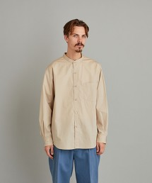 <Steven Alan> THOMAS MASON BAND COLLAR SHIRT-LOOSE/襯衫