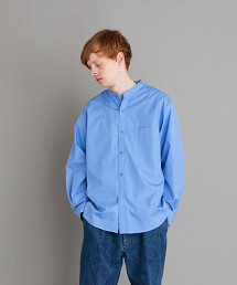 <Steven Alan> THOMAS MASON BAND COLLAR SHIRT-LOOSE/襯衫 日本製