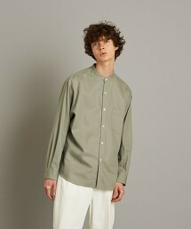 <Steven Alan> SOKTAS/TWILL BAND COLLAR SHIRT-LOOSE/襯衫 日本製