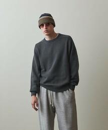 <Steven Alan> CR SADDLE SHOULDER CREW NECK KNIT-LOOSE/針織衫 日本製