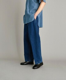 <Steven Alan> 12oz DENIM SUPER BAGGY TAPERED PANTS-JUST/牛仔褲