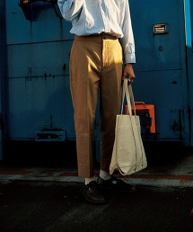 <Steven Alan> CLR/DRL PIPED STEM PANTS-JUST/長褲