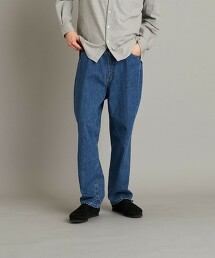 <Steven Alan> 13.5oz DENIM 5P BAGGY TAPERED PANTS/牛仔褲 日本製