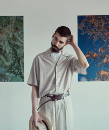 <Steven Alan> R/PE SOLID COLLAR SHIRT-BOLD/襯衫