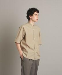 <Steven Alan> BIO/CLOTH BAND COLLAR SHORT SLEEVE SHIRT-BOLD/襯衫