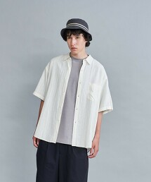 <Steven Alan> LEGGIUNO/LNN REGULAR COLLAR SHORT SLEEVE SHIRT-LOOSE/襯衫 日本製