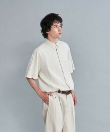 <Steven Alan> LEGGIUNO/LNN SINGLE NEEDLE SHORT SLEEVE SHIRT-LOOSE/襯衫 日本製