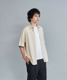 <Steven Alan> LEGGIUNO/LNN REVERSE SEAM SHORT SLEEVE SHIRT-LOOSE/襯衫 日本製