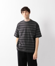 <Steven Alan> HI-DENS BORDER CREW NECK TEE-BOLD/T恤
