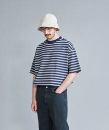 <Steven Alan>  HI-DENS BORDER CREW NECK SHORT SLEEVE TEE-BOLD/T恤 日本製