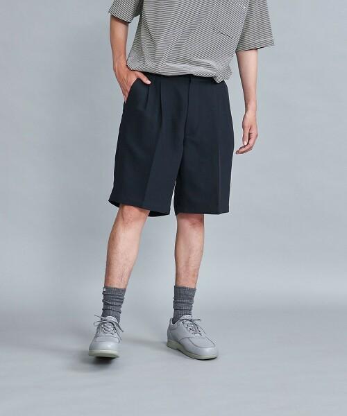<Steven Alan> DEAPE 2PLEATED HALF EASY SHORT PANTS/短褲