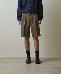 <Steven Alan> WOOL/MOHAIR 2PLEATED HALF EASY SHORT PANTS/西裝短褲 日本製