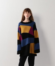 <Steven Alan>COLOR BLOCK PULLOVER/針織毛衣
