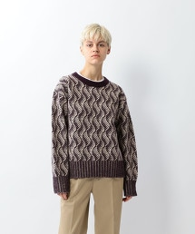 <Steven Alan>WOOL JACQUARD KNIT/針織毛衣