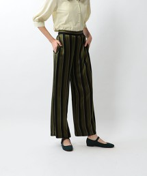 <Steven Alan>MULTI STRIPE WIDE CLOPPED PANTS/長褲