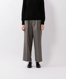 <Steven Alan>HERRINGBONE TUCK WIDE PANTS/長褲