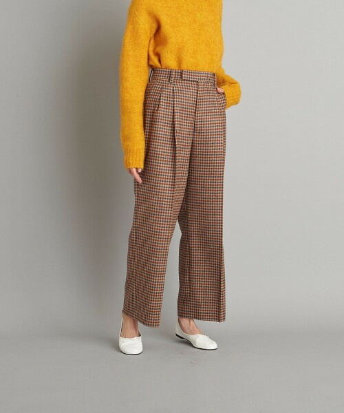 <Steven Alan>CHECK WIDE PANTS/長褲 日本製
