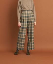 <Steven Alan>CHECK WIDE PANTS/長褲 日本製