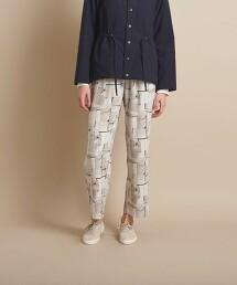 <Steven Alan>∴STONE WALL PRINT TROUSERS/長褲 日本製