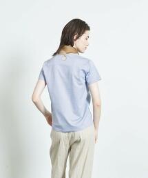 <Steven Alan>COTTON JACQUARD CREW NECK PULLOVER/T恤
