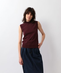 <Steven Alan>COTTON HI-NECK NO SLEEVE KNIT/針織上衣