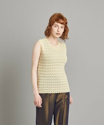 <Steven Alan>COTTON LACE KNIT TANK TOP/坦克背心