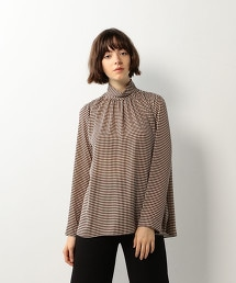 <Steven Alan>DIAMOND PATTERN HIGH NECK BLOUSE/罩衫