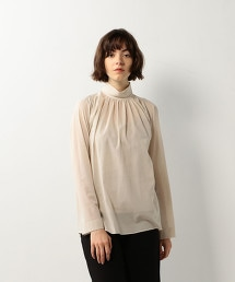 <Steven Alan>COTTON VOILE HIGH NECK BLOUSE/罩衫
