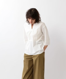 <Steven Alan>COTTON TYPEWRITER SLIT TUNIC SHIRT/襯衫