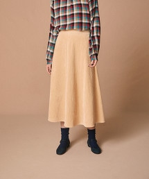 <Steven Alan>SOFT CORDUROY FLAIR SKIRT/長裙