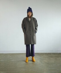 <Steven Alan>OPEN COLLAR BOX COAT/大衣 日本製