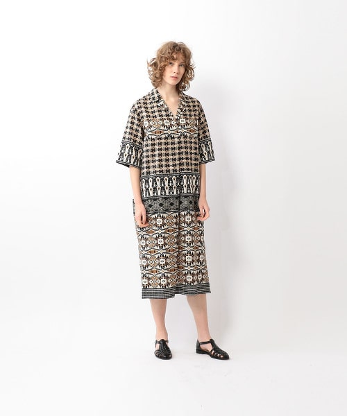 <Steven Alan>PRINT SKIPPER DRESS/洋裝