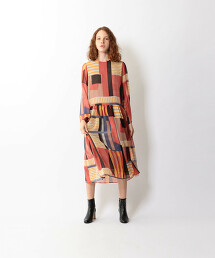 <Steven Alan>PRINT CHIFFON DRESS/洋裝