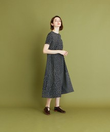 <Steven Alan>RANDOM DOT SHORT SLEEVE DRESS/洋裝 日本製