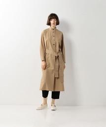 <Steven Alan>COTTON TWILL STAND COLLAR SHIRT DRESS/連身洋裝