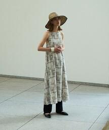 <Steven Alan>∴STONE WALL PRINT DRESS/洋裝 日本製