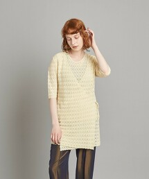 <Steven Alan>COTTON LACE KNIT CARDIGAN/對襟外套