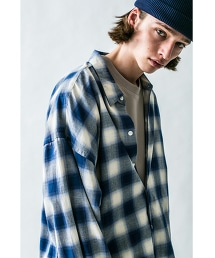 <monkey time>  OMBRE CHECK LONG SHIRT/襯衫