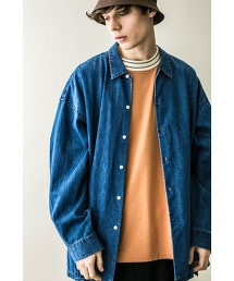 <monkey time> DENIM LONG SHIRT/丹寧襯衫