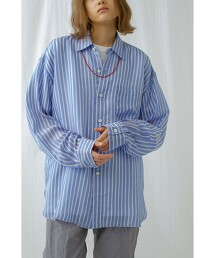 <monkey time> WASH Cu STRIPE SHIRT/直條紋襯衫
