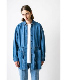 <monkey time> 8oz DENIM LONG SHIRT/長版襯衫